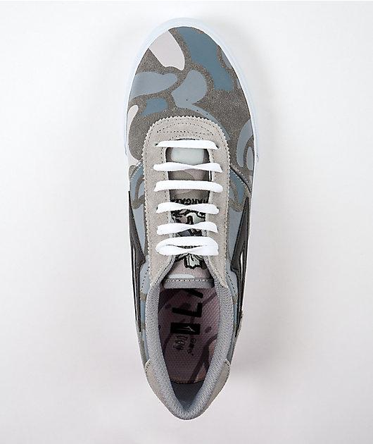 Lakai Manchester Grey & Camo Skate Shoes