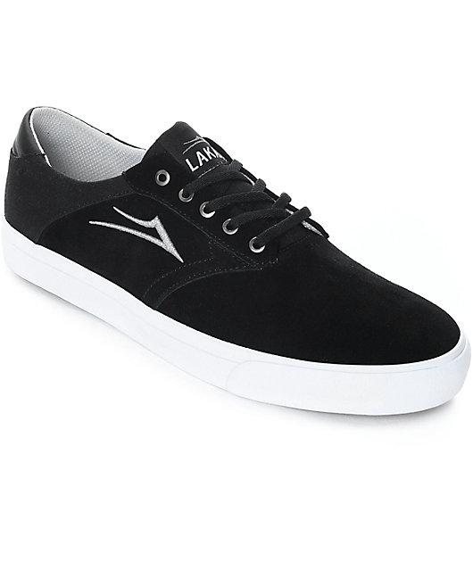 Lakai Porter Black \u0026 White Suede Skate