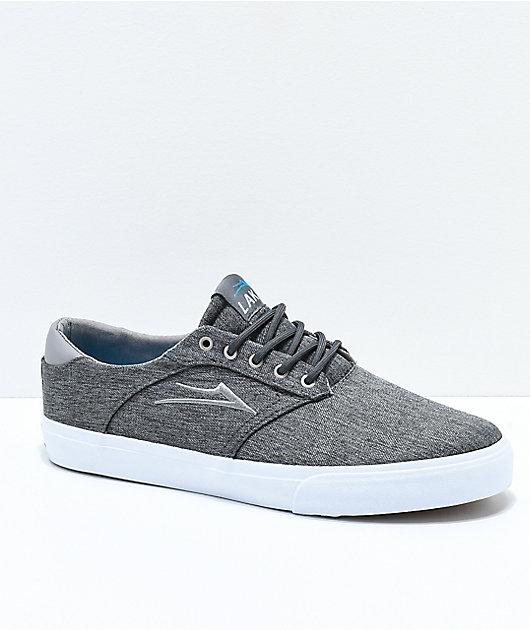 Lakai Porter Charcoal & White Skate Shoes