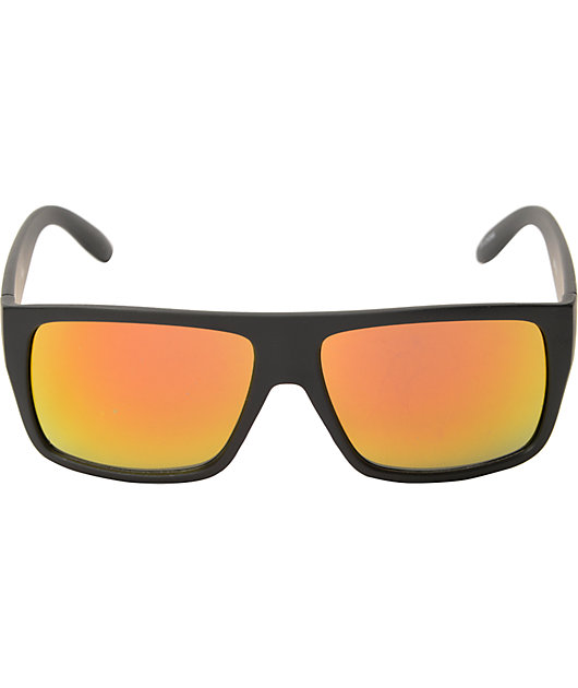 Lazer Large Black Mirrored Lens Sunglasses