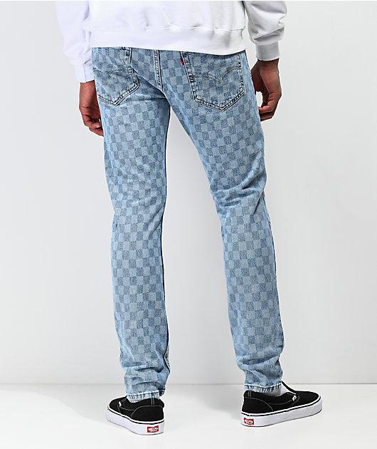 Levi's 512 Checkered Light Blue Slim Jeans
