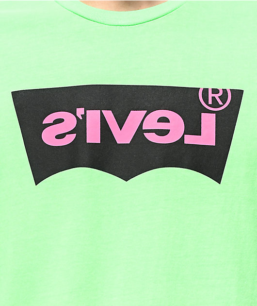 Levi's Housemark Neon Green T-Shirt