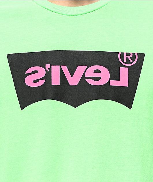 Levi's Housemark camiseta verde neón