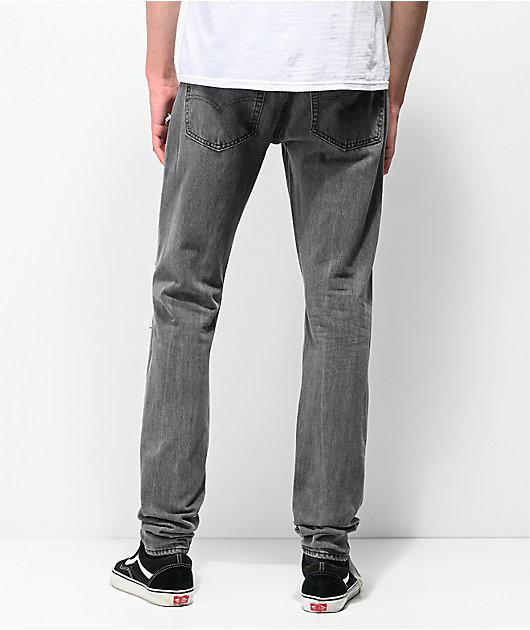 Levi's Lo-Ball Stack Scratch Black Denim Jeans