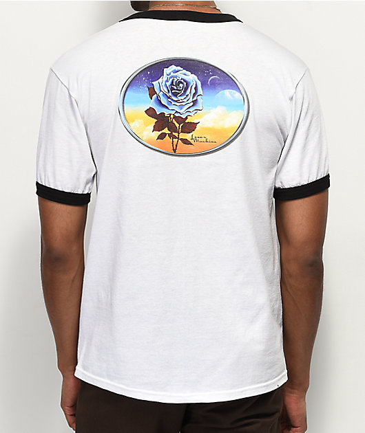Loser Machine Chrome Rose White Ringer T-Shirt