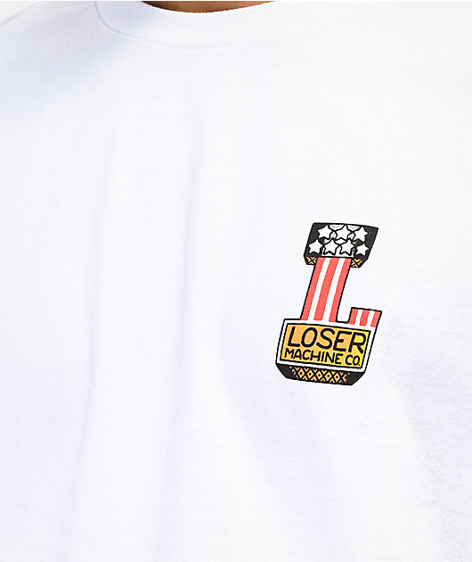 Loser Machine Free Hand White T-Shirt