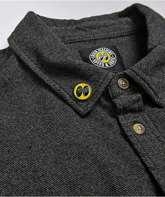 Loser Machine x Moon Pioneer Grey Flannel Shirt