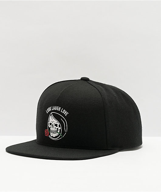 Luking Class by Sketchy Tank Lurk Laugh Love Black Snapback Hat