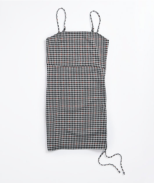 Lunachix Black & White Houndstooth Mini Dress