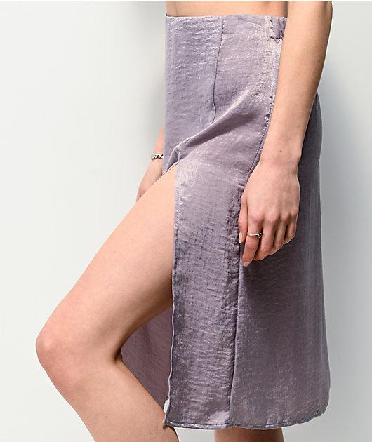 Lunachix Slip Lavender Midi Skirt
