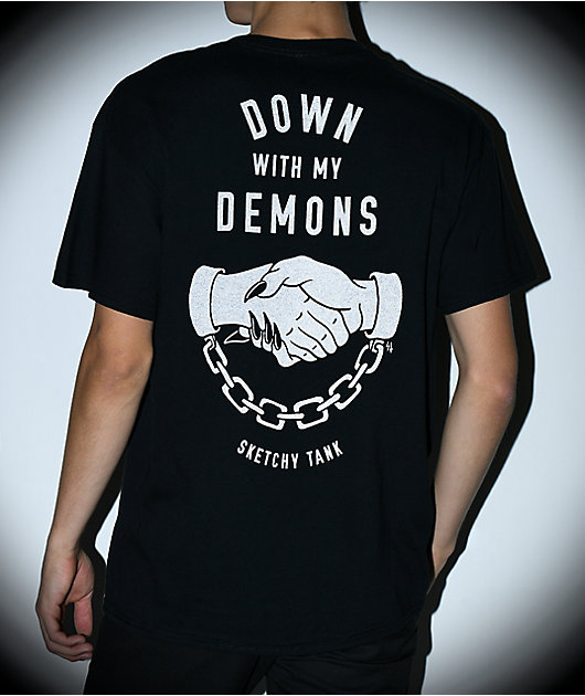 Lurking Class By Sketchy Tank Demons camiseta negra reflectante