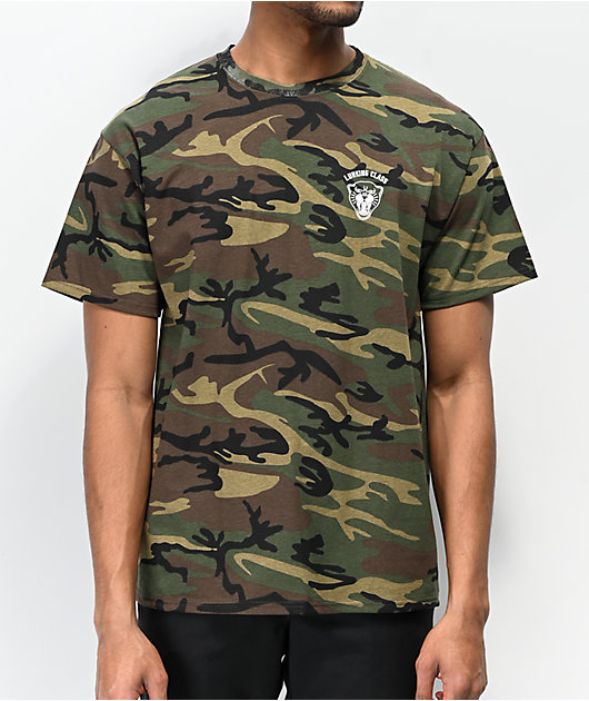 Lurking Class By Sketchy Tank Panther Camo T-Shirt