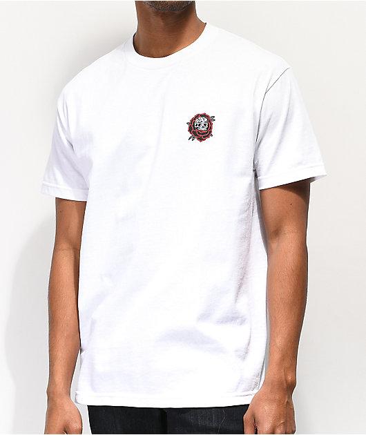 Lurking Class By Sketchy Tank Rose camiseta blanca