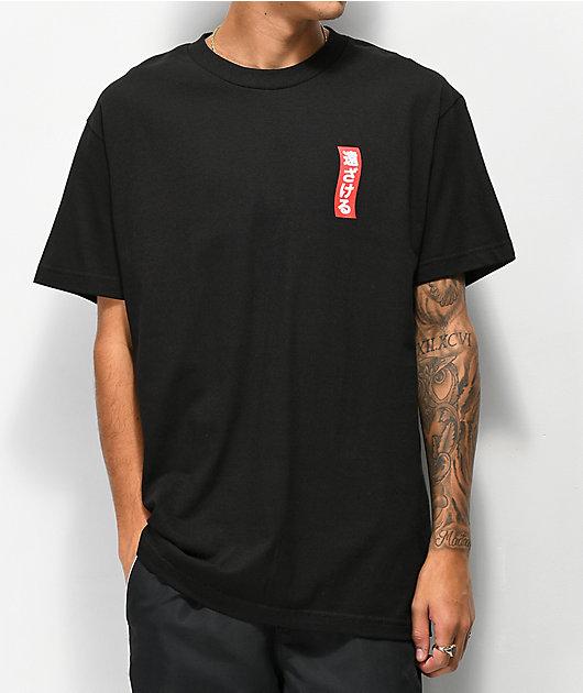 Lurking Class By Sketchy Tank x Mr. Tucks Lurker Bonsai camiseta negra