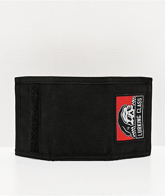 Lurking Class by Sketchy Tank Black Trifold Wallet