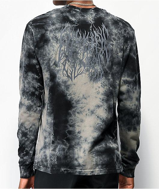 Lurking Class by Sketchy Tank Branch Logo Black Tie Dye Long Sleeve T-Shirt