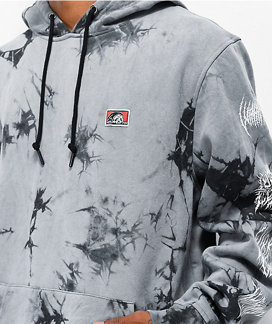 Lurking Class by Sketchy Tank Branch Logo Grey & Black Dyed Hoodie
