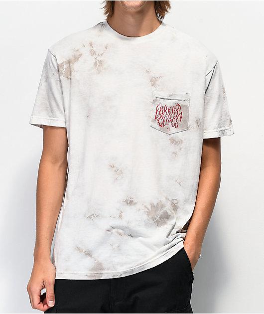 Lurking Class by Sketchy Tank Branch Logo camiseta blanca con bolsillo
