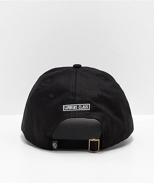 Lurking Class by Sketchy Tank Demon Hand Black Strapback Hat