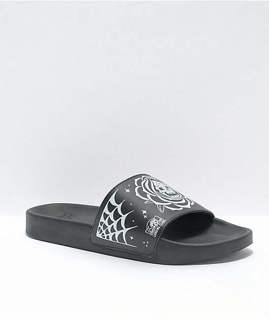 Lurking Class by Sketchy Tank Flash Black & White Slide Sandals