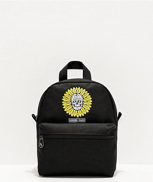 Lurking Class by Sketchy Tank Flower Skull Black Mini Backpack
