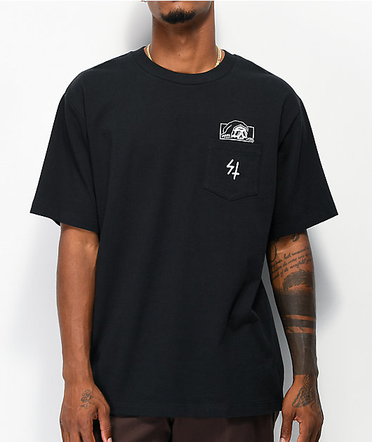 Lurking Class by Sketchy Tank High Density Lurker Black Pocket T-Shirt