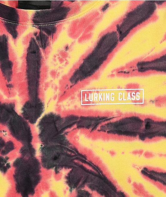 Lurking Class by Sketchy Tank Hot Boy Orange Tie Dye Long Sleeve T-Shirt