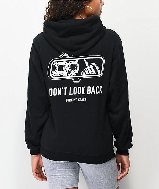Lurking Class by Sketchy Tank Look Back Black Hoodie