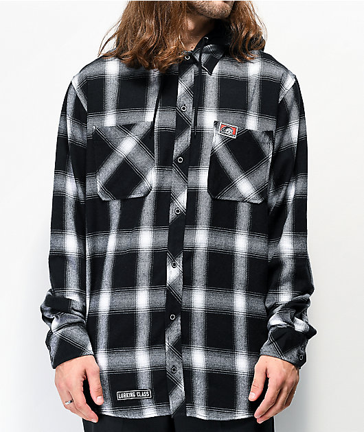 Lurking Class by Sketchy Tank Lurker camisa de franela negra con capucha