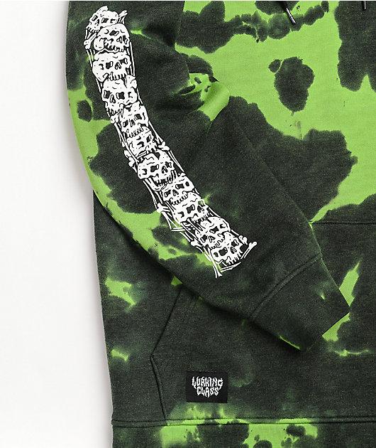 Lurking Class by Sketchy Tank Matrix Green Tie Dye Hoodie