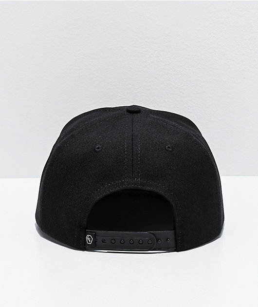 Lurking Class by Sketchy Tank Metal Black Snapback Hat