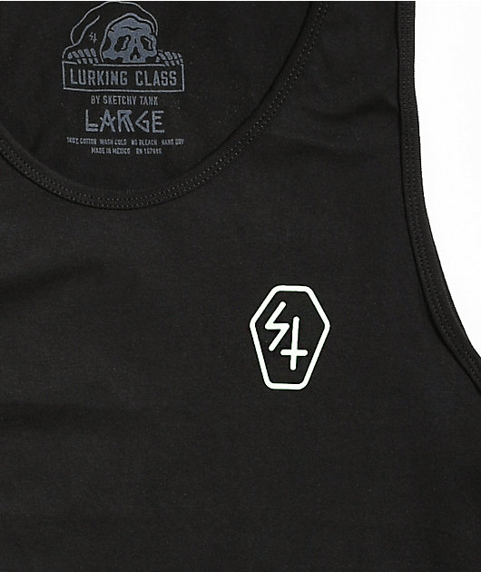 Lurking Class by Sketchy Tank Paradise Black Tank Top