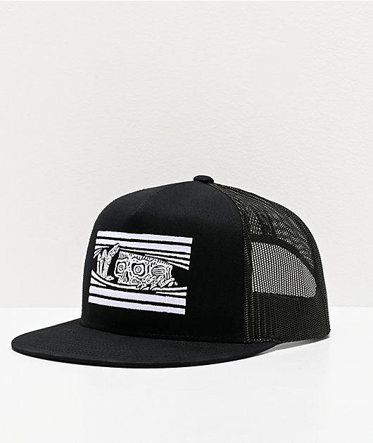 Lurking Class by Sketchy Tank Peeking Black Trucker Hat