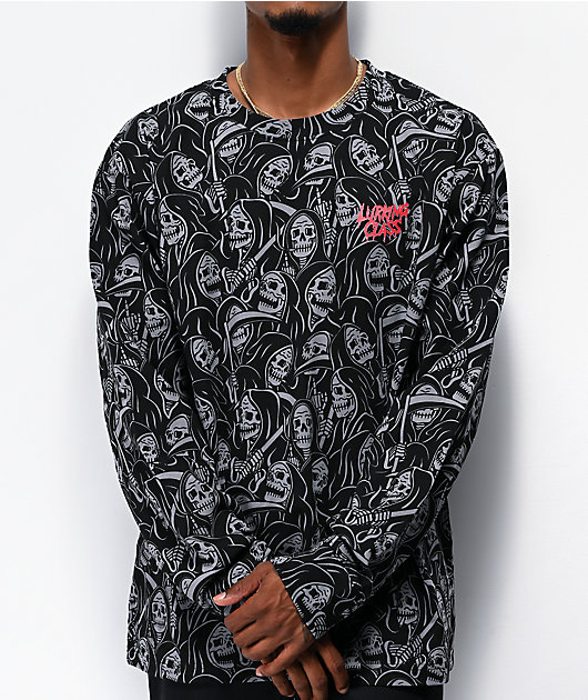 Lurking Class by Sketchy Tank Reaper Black Long Sleeve T-Shirt