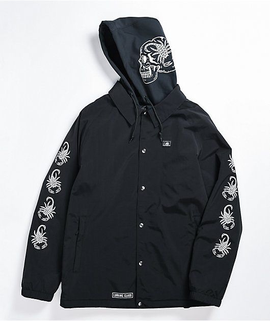 Lurking Class by Sketchy Tank Scorp Black 10K Snowboard Jacket