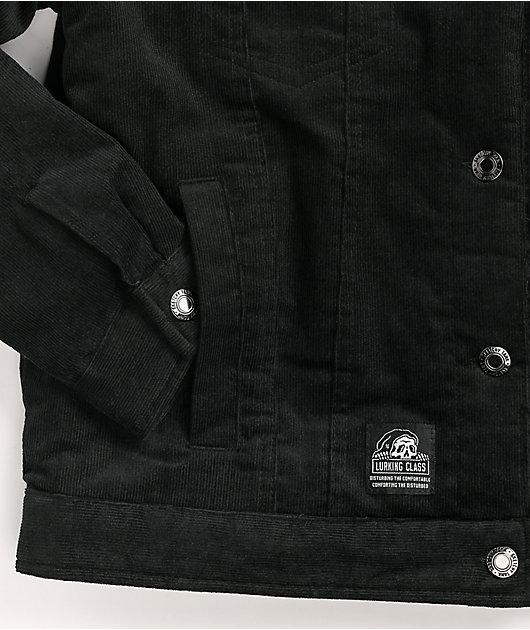 Lurking Class by Sketchy Tank Scratch Black Sherpa Corduroy Jacket