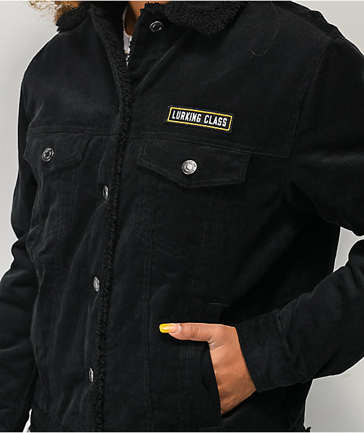 Lurking Class by Sketchy Tank Thorn Rose chaqueta de pana negra con capucha