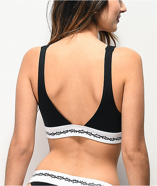 Lurking Class by Sketchy Tank Thorns Black Bralette Bikini Top