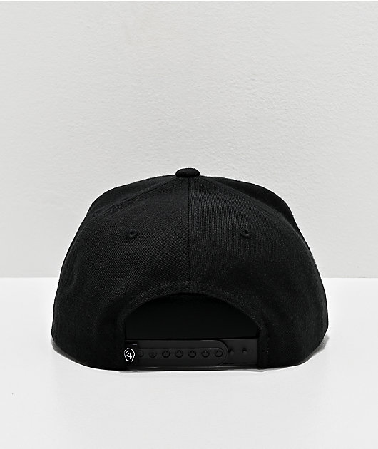 Lurking Class by Sketchy Tank Triangle Black Snapback Hat