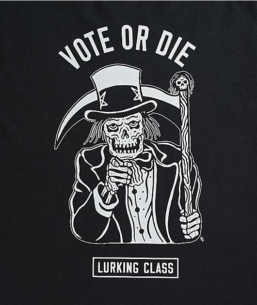 Lurking Class by Sketchy Tank Vote Or Die Black T-Shirt