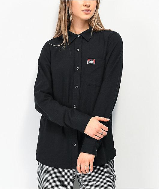 Lurking Class by Sketchy Tank Yin Yang camisa de franela negra