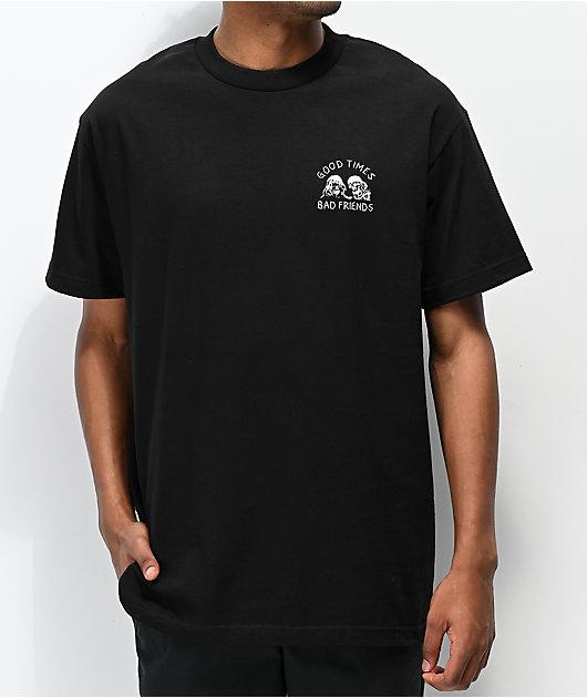 Lurking Class x Stikker Good Times Bad Friends Black T-Shirt
