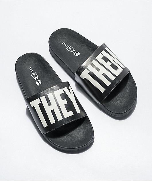 MAH They Them Black & White Slide Sandals