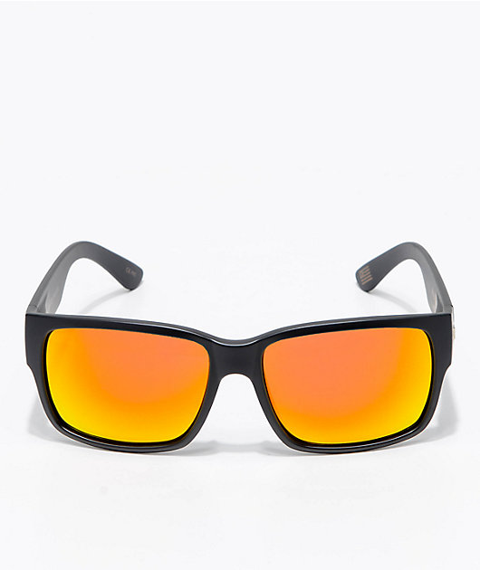Madson Classico gafas de sol polarizadas en negro mate y rojo