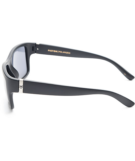Madson Piston Matte Black & Grey Polarized Sunglasses