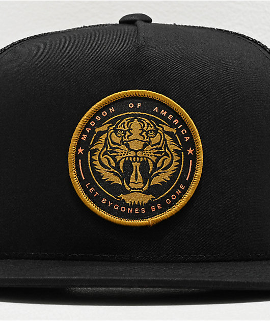 Madson Roaring Tiger Circle Black Trucker Hat