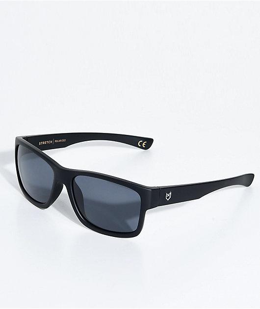Madson Stretch Matte Black & Grey Polarized Sunglasses