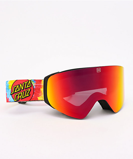 Madson x Santa Cruz Cylindro Screaming Hand Tie Dye Snowboard Goggles