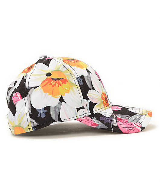 Married To The Mob Tropical Fantasy Floral Baseball Snapback Hat
