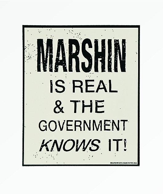 Marshin Is Real Sticker